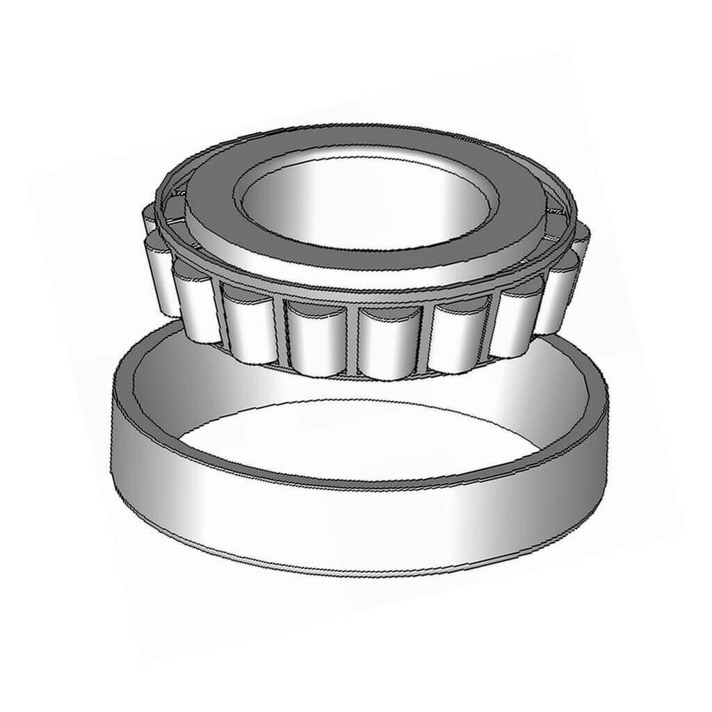 Taper roller bearing used for long durability
